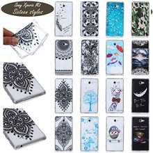 UltraThin FasHion PainTed PaTTeRn SiLiCone SoFt Cover For Sony Xperia M2 WaVy AnTi SLip DeSiGn CeLL Phone Cases