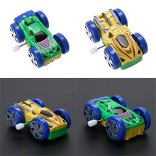New Somersault Bounce Cars Two-sided Pattern Clockwork Funny Toys Gift for Children Diecasts & Toy Vehicles High Quality(China)