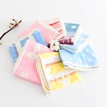 30cm50cm 2017 new arrive baby towel long 6 layers gauze baby cartoon towel cotton for children QD17