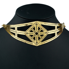 Europe and the United States exaggerated retro alloy irregular necklace