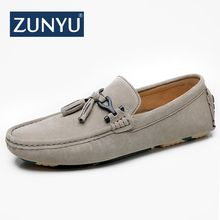 Buy ZUNYU Brand New Fashion Spring Summer Men Driving Casual Shoes Loafers Genuine Leather Boat Shoes Breathable Male Flats Loafers for $23.68 in AliExpress store