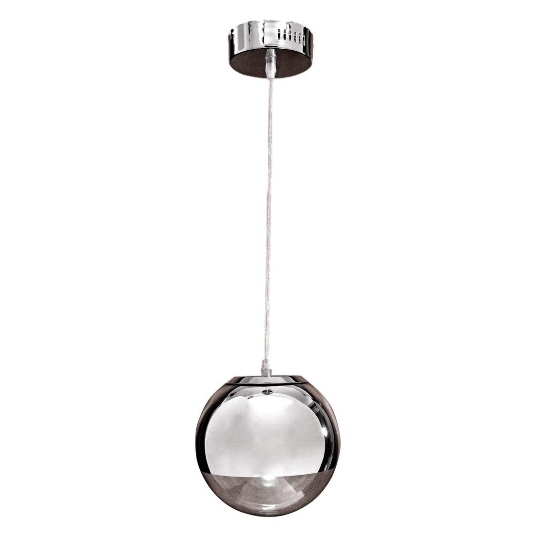 Pendant Chandelier Ceiling Globe Lamp Light Bulb Metal Body Chrome<br>