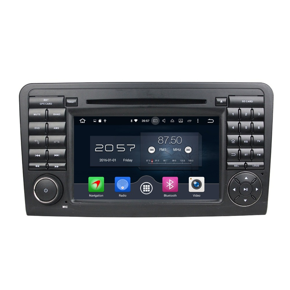 Octa Core 7″ Android 6.0 Car Radio DVD GPS for Mercedes Benz ML CLASS W164 ML300 ML350 ML450 ML500 2GB RAM 32GB ROM Mirror-link