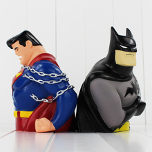 2styles 20cm Superheros Figure Toy Batman VS Superman Piggy Bank Saving Bank Great Gift for Kids Free Shipping(China)