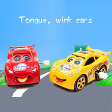 Free Shipping Cartoon Cute Brinquedos Spit Tongue Blink Interesting Toys Cars 4 Styles For Children The Best Gift