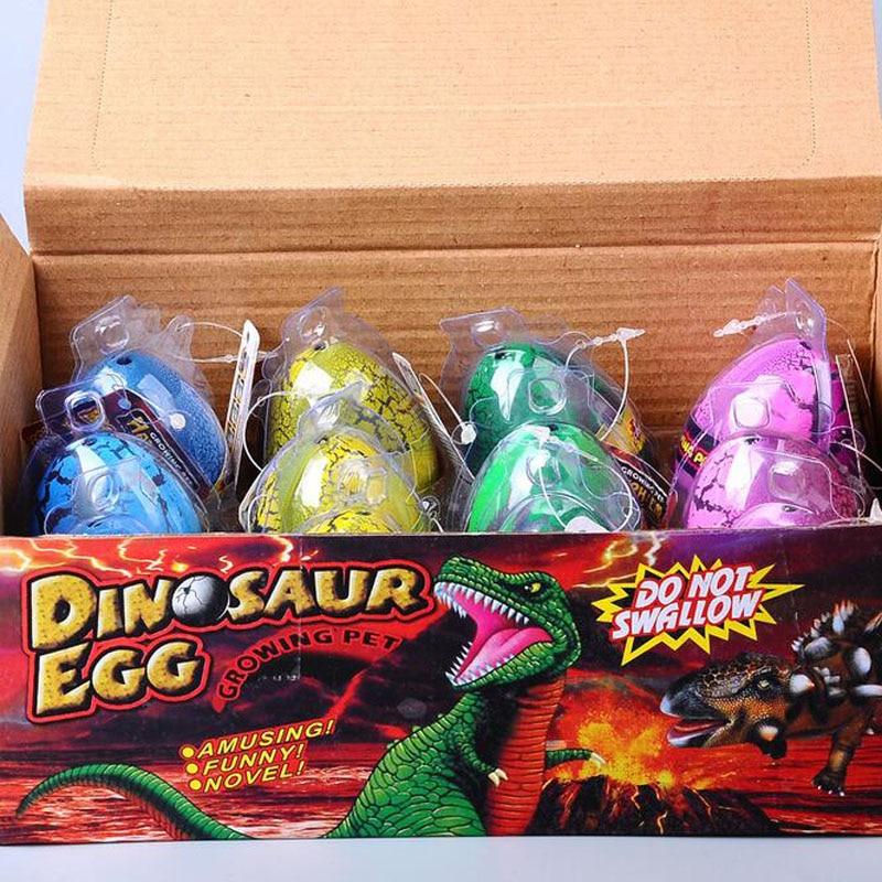 Large Size 12pcs/set Water Hatching Inflation Dinosaur Egg Novelty Toys Cracks Grow Egg Educational Toys For Baby Boy children <br><br>Aliexpress