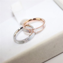 YUN RUO Rose Gold Silver Colors Natural Shell Zirconia Finger Ring for Woman Man Wedding Jewelry 316L Stainless Steel Never Fade(China)