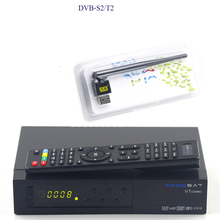 FTA Satellite TV Receiver Freesat V7 combo with wifi dongle DVB-S2 DVB-T2 hd satellite receiver suport powervu DRE & Biss key