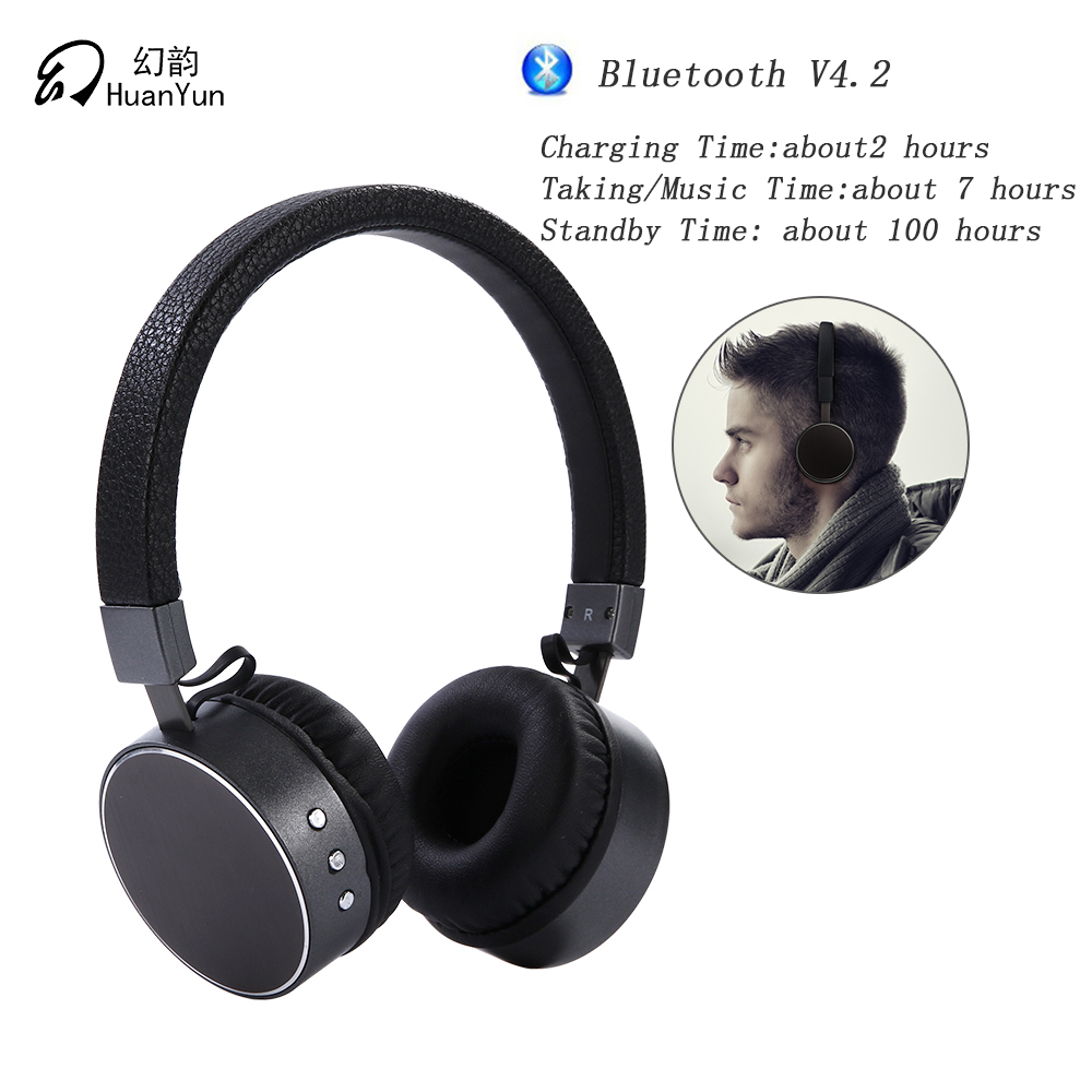 HuanYun Wireless Bluetooth V4.2 HIFI Headphones with Mic/micro  Stereo Bass Noise Cancelling  Portable Sport BT009<br>