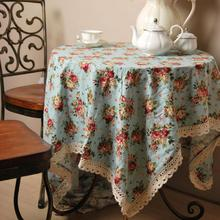 Korea style Classic peony Lace Edge Table Cloth dining table mat coffee tea table tablecloth bar restaurant decoration LW0321