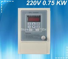 0.75KW inverter VFD 220V VARIABLE FREQUENCY DRIVE INVERTER 1 phase input 3 phase output 220v ac motor(China)