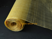 High quality.Champagne gold Width 91CM Sinamay Millinery Fabric for sinamay fascinator ladies hat.(China)