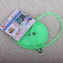 BF040 Home Clothesline Rope Line Cord String Camping Adjustable Windproof Nylon Outdoor Anti Slip Slide Drying Clothes Hanger 5M(China)