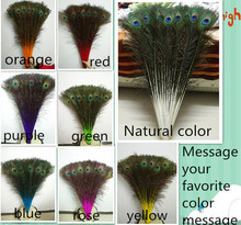 Wholesale 200 pc high quality natural peacock feather, 70-80cm long, diy carnival festival props, wedding accessories ...(China)