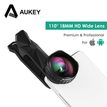 AUKEY Universal Camera Phone Lenses 18MM HD 0.67 X 110 Degree Wide Angle Clip-on Phone Lens Gifts Case For iPhone 6/6s / Plus(China)