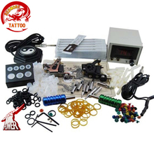 Beginner Complete Tattoo Machine Kit Sets Digital LCD Power Supply Needles Mini Tattoo Kit PTK-913-C3