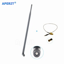 Aperit 1 9dBi Dual band RP-SMA WiFi Antenna + 1 U.fl cable Mod Kit for Linksys WRT330N WRT320N(China)