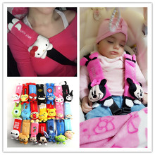 2pcs Minnie Mouse for Kids Safety Belt Plush Seat harness Shoulder Pad Cushion Car safety seat belt cover