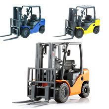 Alloy engineering vehicle model light fork lift truck metal toy fork assembly machine simulation toy christmas gift 1:20(China)