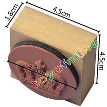 4 Retro Stylish Scrapbooking Diary Wooden Rubber Stamp Seal With Ink Pad DIY(China)