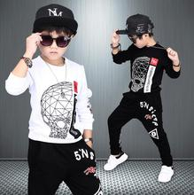 Boys Clothing Sets Autumn Cotton Cute Sweatshirts Tops + Haren Pants Outfits Set 2pcs Spring Clothes For 4 6 8 10 12 14 Years(China)