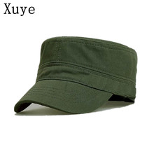 XUYE men flat top caps military hats classic unisex cap casquette mens travel  lady camping adjustable hat for women