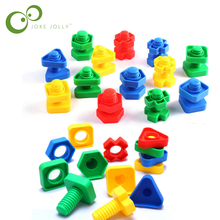 5 pcs Screw building blocks plastic insert blocks nut shape toys for children Educational Toys  montessori scale models