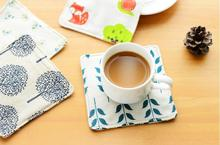 4pcs/lot Pastoral Linen Cotton Coaster Placemat Dining Table Mat Cup Coaster Eco-friendly Heat Insulation Pad Table Decoration