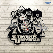 Steven Universe Quotes Vinyl Record Clock Wall Art Home Decor saat