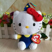 "Hello Kitty Celebration HELLO KT CAT TY BEANIE BABIES 15CM 6"" Plush Toys Stuffed animals KIDS TOYS GIFT Children toy(China)"