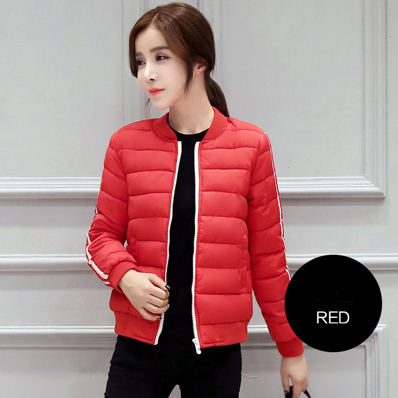 Woman New fashion brief paragraph baseball clothes Female down cotton-padded jacket autumn winter slim womens simple plus big Одежда и ак�е��уары<br><br><br>Aliexpress