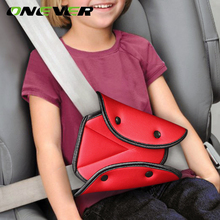 Onever Car Safe Fit Seat Belt Sturdy Adjuster Car Safety Belt Adjust Device Triangle Baby Child Protection Baby Safety Protector(China)