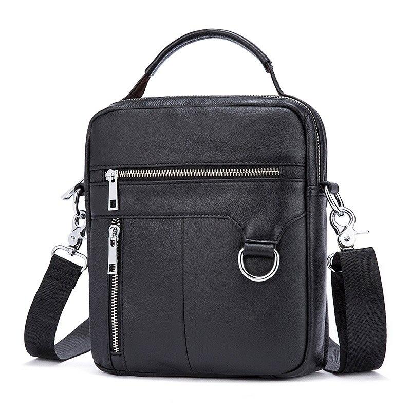 New Fashion Handbag Men Briefcase Genuine Leather Men Business Bag Designer Brand Vintage Briefcase Male Shoulder Messenger Bags<br>