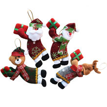 4pcs/lot Santa Dolls Gifts Pendant Sale Christmas Tree Decorations Hanging Ornaments Craft Supplies New Year Decor 2017 SD213