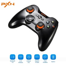 PXN 9613 Dual Mode Wireless Gamepad Bluetooth 4.0+2.4G Game Controller Vibration Joystick Support Xin/Dinput For PC For Android(China)