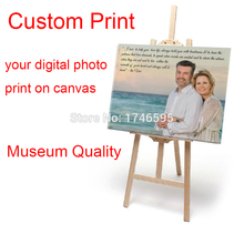 Free shipping Your picture, Family, friends or Baby Photo, Favorite Image Custom Printed on Canvas prints painting Gallery Art(China)