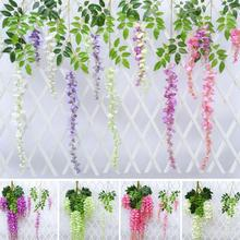 1PCS Artificial Wisteria DIY Silk Flower Home Wedding Bouquet Party Party Kids Room Decoration 6 Colors Available