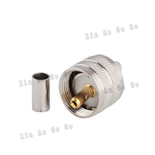 UHF PL259 male crimp RF Coxial connector PL259 UHF male straight Crimp for RG58 RG142 LMR195 coaxial cable fast ship