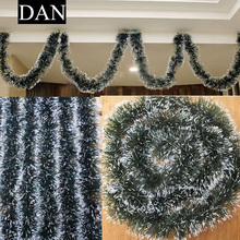 Hot Sale 1 Pieces 2M PVC Xmas Tree Ornaments Decor Christmas Dark Green Ribbon for Home Party AU 2017