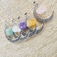 2017 New Fashion Moon Star Time Artificial Synthetic Gemstone Necklace World Warcraft Vintage Crystal Pendant Necklaces 16070901