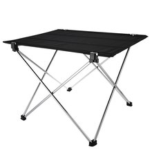 Portable Outdoor Folding Table Desk Aluminium Alloy Nylon Waterproof Ultra-light Durable Foldable Table For Camping Picnic(China)