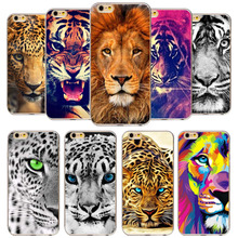 Case For Apple iPhone 7 8 6 6s 7Plus 8P 5 5s SE Soft Silicone TPU Animal Tiger Lion Phone Bag Cover Back Cases Capa Coque Fundas