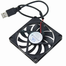 Gdstime 2pcs/lot USB Power 5V 80mm DC Brushless Cooling Fan 80x80x10mm For PC Computer Case Cooling