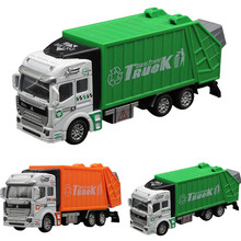 High Quality 1:32 Racing Bicycle Shop Truck Toy Car Carrier Vehicle Garbage Truck Free Shipping