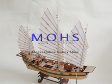 Classic sailing boat wood scale ship 1/100 Chinese ancient kylin scale assembly model ship building kit scale boat ship kits(China)