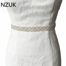 Fashion Women's Luxury Handmade Rhinestone Wedding Belts Floral Crystal Bridal Bridesmaid Dress Sash Cummerbunds Waistband(China)