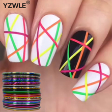 Retail 40 Popular 0.8mm Nail Striping Tape Line For Nails Decorations Diy Nail Art Self-Adhesive Decal Tools(China)