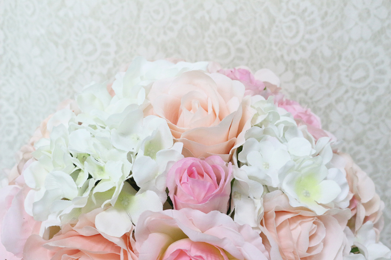 JAROWN Artificial Wedding Flower Ball Simulation Rose Hydrangea Flowers Hemisphere Roman Column Decor Home Party Decor Flores (15)