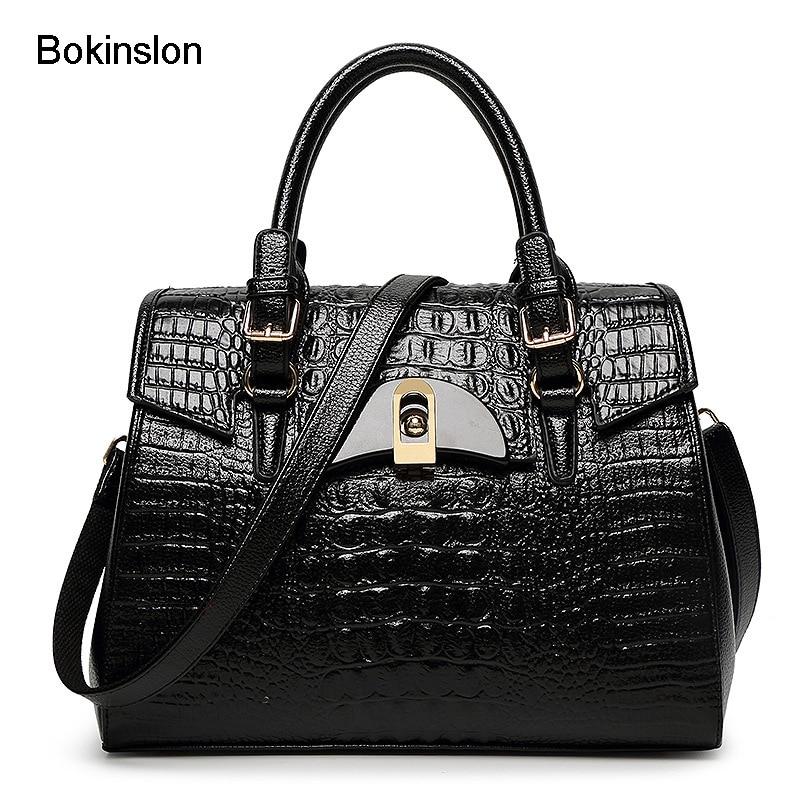 Bokinslon Bags Woman Fashion PU Leather Solid Color Women Handbags Shell Shape Popular Female Crossbody Bags<br>