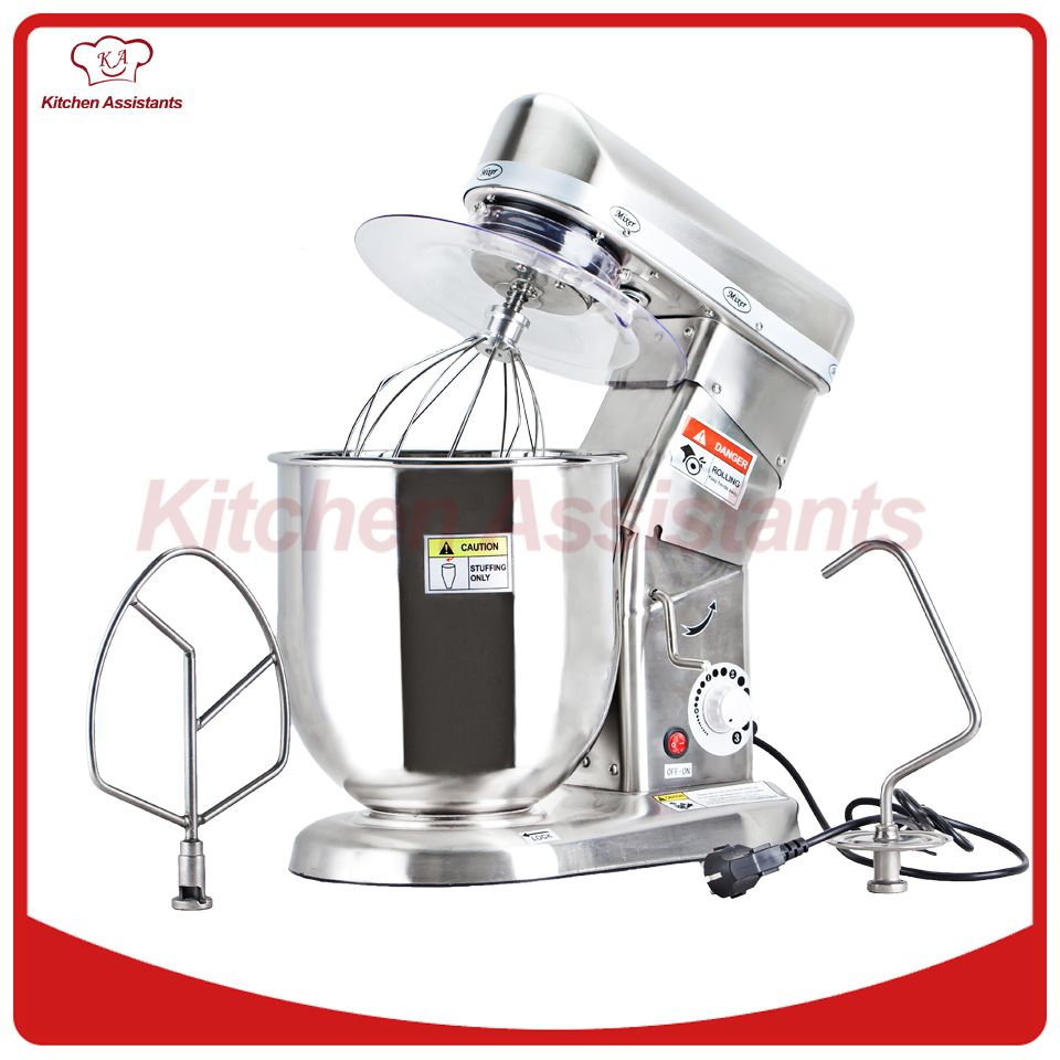 Home use or commercial use 7, 10 Liters electric stand food mixer, planetary cooking mixer, egg beater, dough mixer machine(China)
